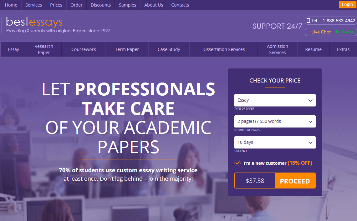 bestessays com review college paper writing service reviews services provided
